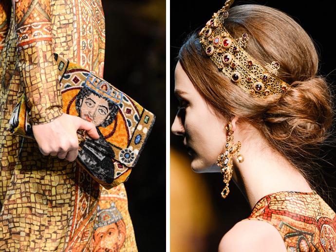 Платье дольче габбана буклированное с золотом