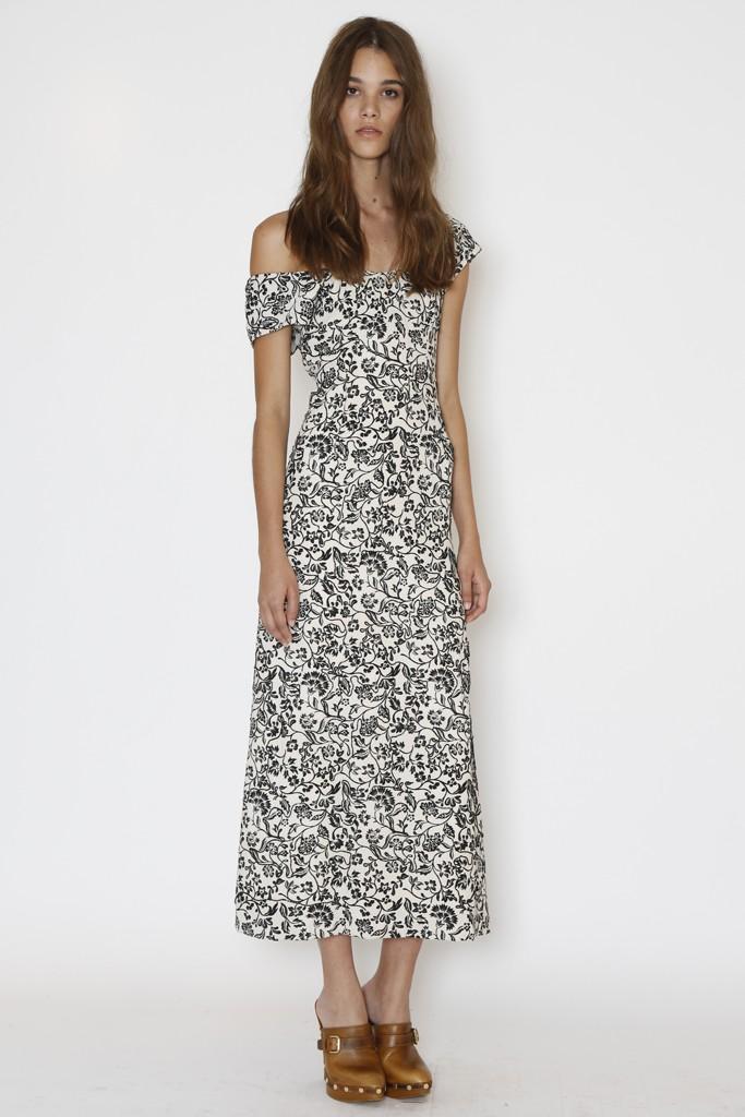 черно белое платье или бело золотое фото