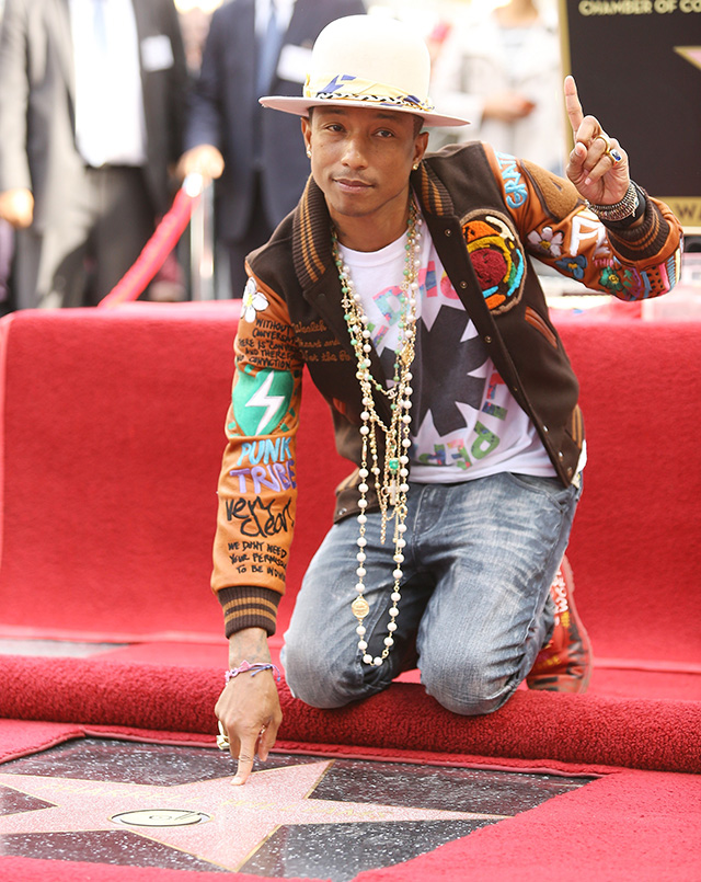 Pharrell Williams received a star on the Walk of Fame (photo 1)