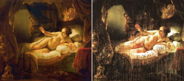 Картина Рембрандта «Даная»: до и после покушения 16 июня 1985 года