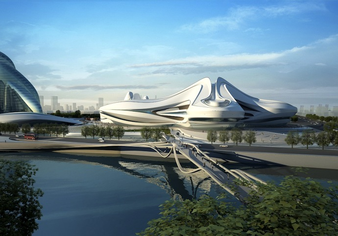 Заха Хадид. Мультифункциональный культурный центр в Китае