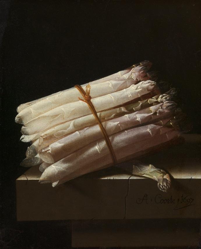 "Адриен Курте. ""Натюрморт со спаржей"", 1697"