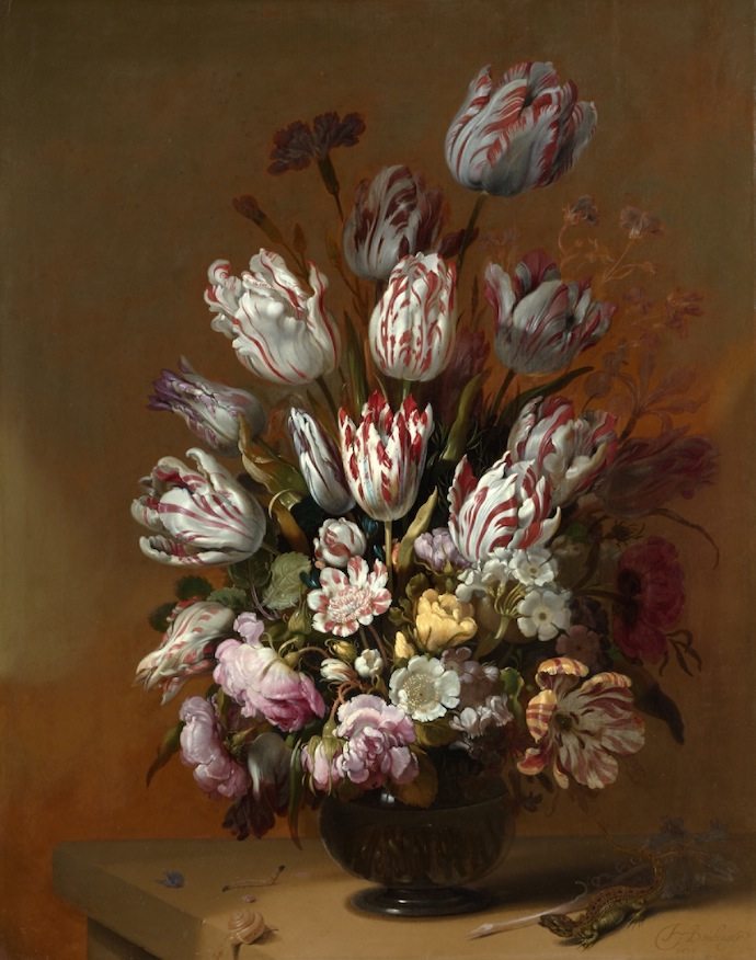 "Ханс Болоньер. ""Натюрморт с цветами"", 1639"