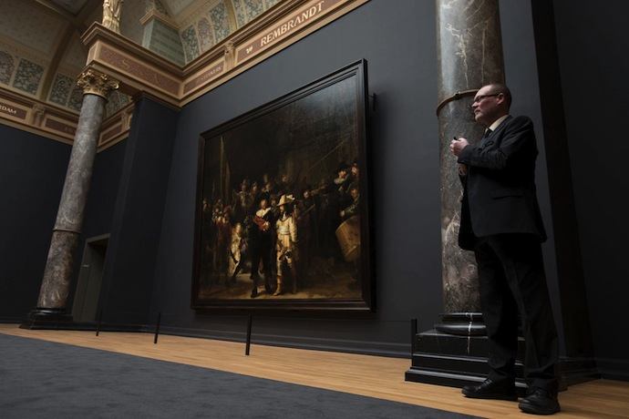 """Картина Рембрандта """"Ночной дозор"""" в Рейксмюзеум"""