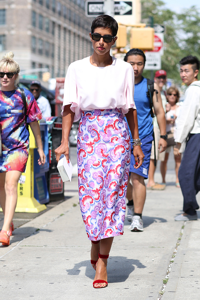 Fashion Week di New York / S 2015 S: street style.  Parte II (7 foto)