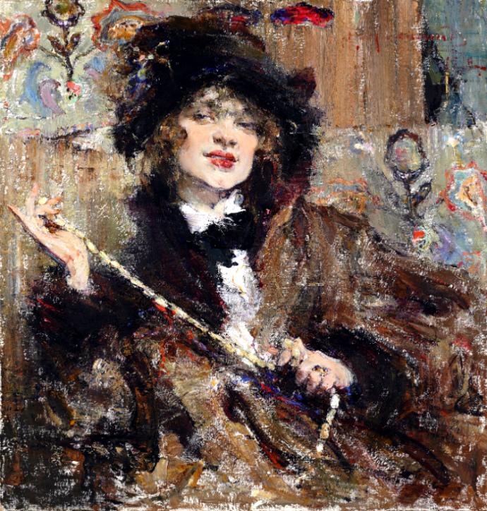 """Николай Фешин. """"Портрет мадемуазель Подбельской"""", 1912"""
