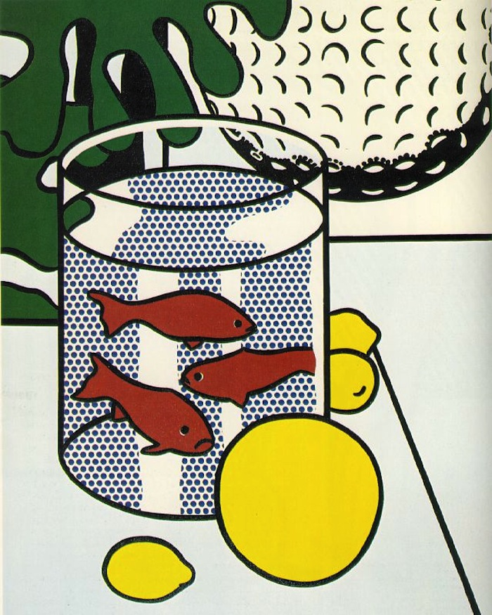 Рой Лихтенштейн. Still Life with Goldfish, 1972