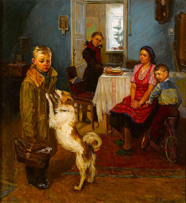 """Федор Решетников. """"Опять двойка"""", 1952"""