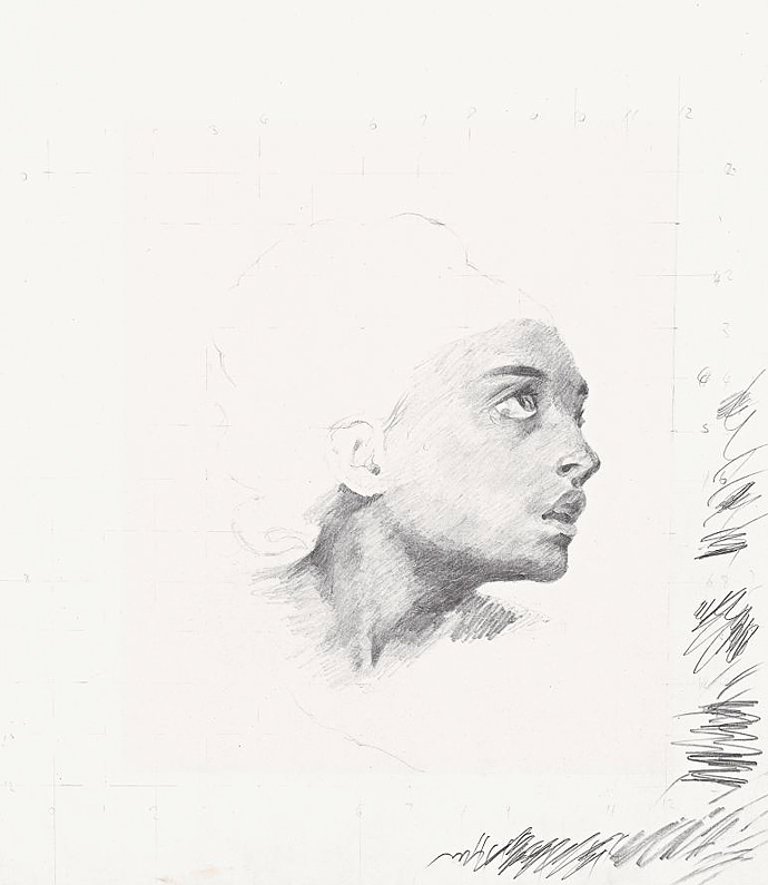 Дэмиен Херст. Этюд к Делакруа (Сирота на кладбище), 1981