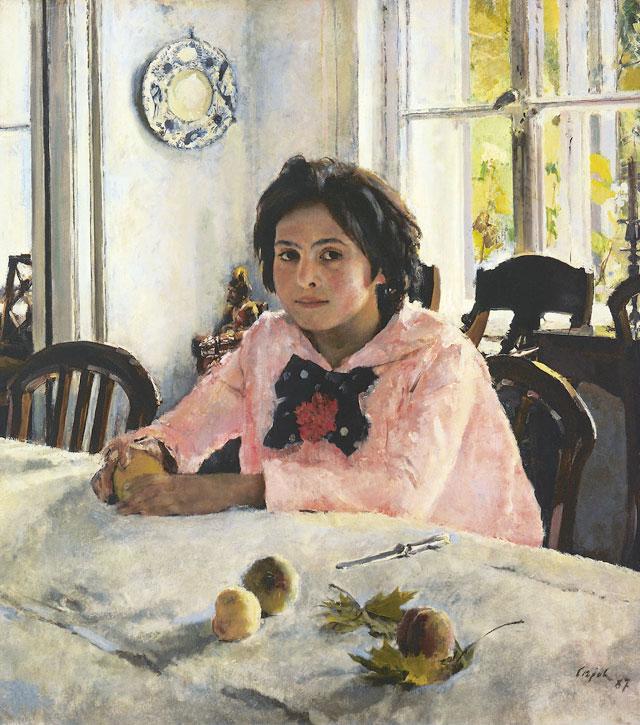 """Валентин Cеров. """"Девочка с персиками"""", 1887 год"""