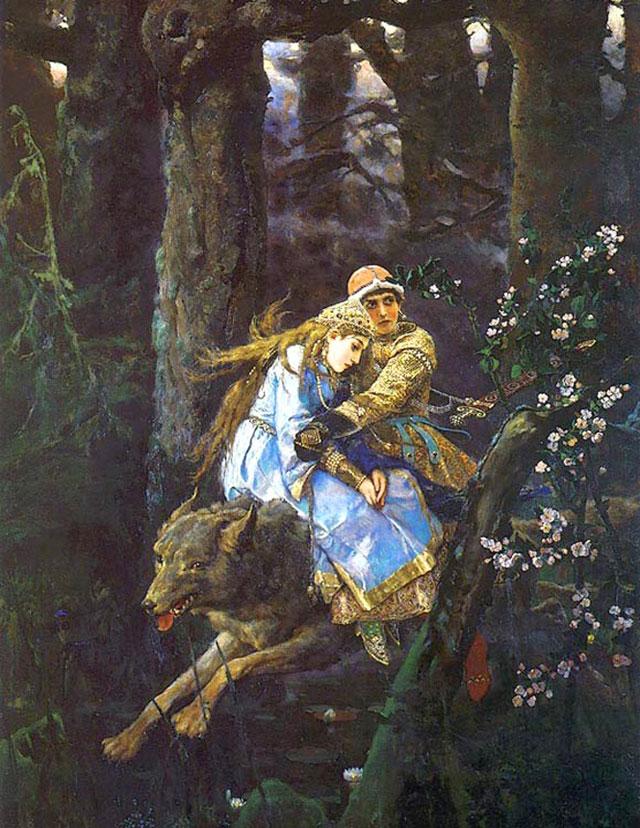 """Виктор Васнецов. """"Иван Царевич на сером волке"""", 1889"""