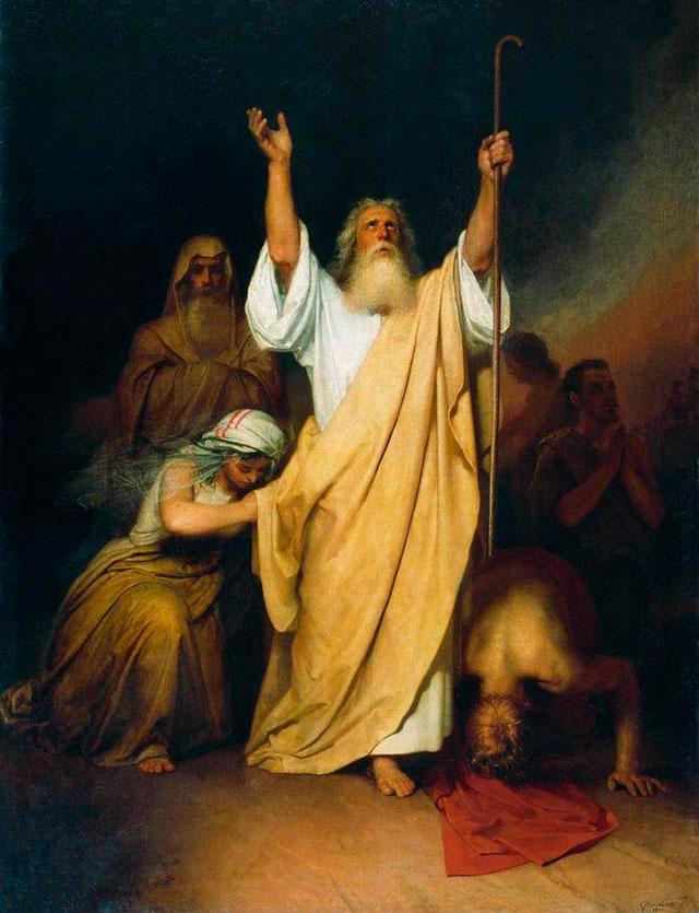 """Иван Крамской. """"Молитва Моисея после перехода израильтян через Чермное море"""", 1861"""