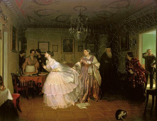 "Павел Федотов. ""Сватовство майора"", 1848"