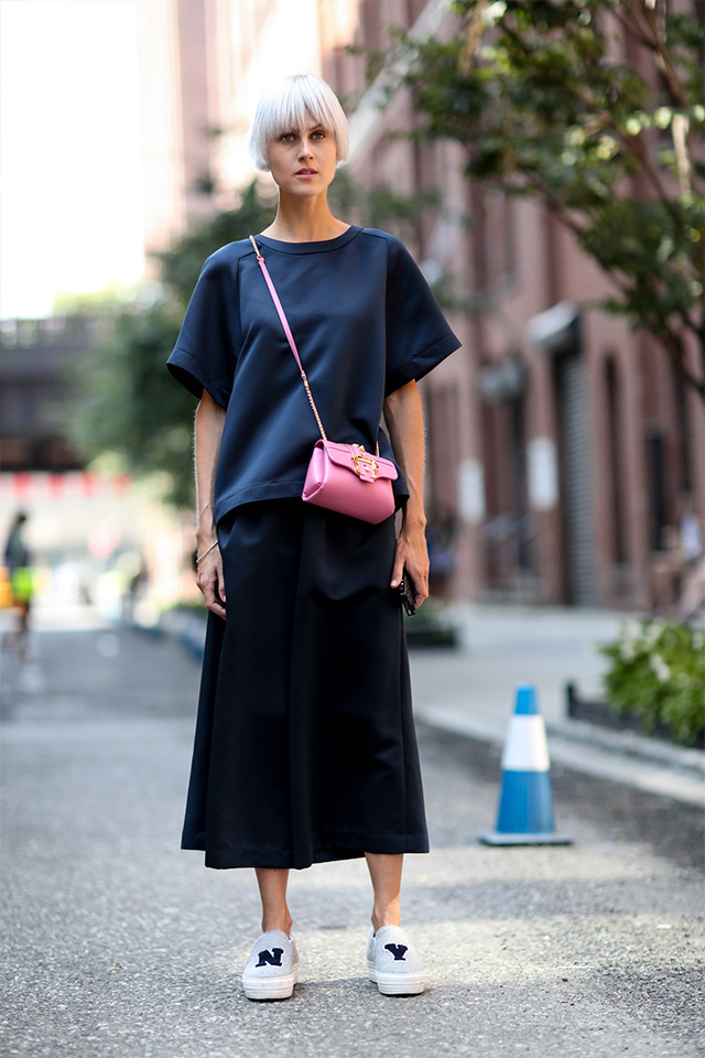 Fashion Week di New York / S 2015 S: street style.  Parte III (5 foto)