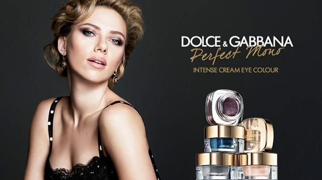 Скарлетт Йоханссон в рекламной кампании теней Dolce & Gabbana (фото 1)