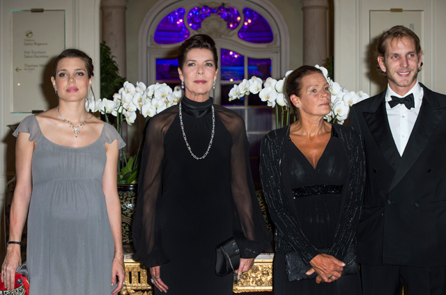 Charlotte Casiraghi, Princess Caroline of Hanover, Princess Stephanie of Monaco and Andrea Casiraghi, 2013