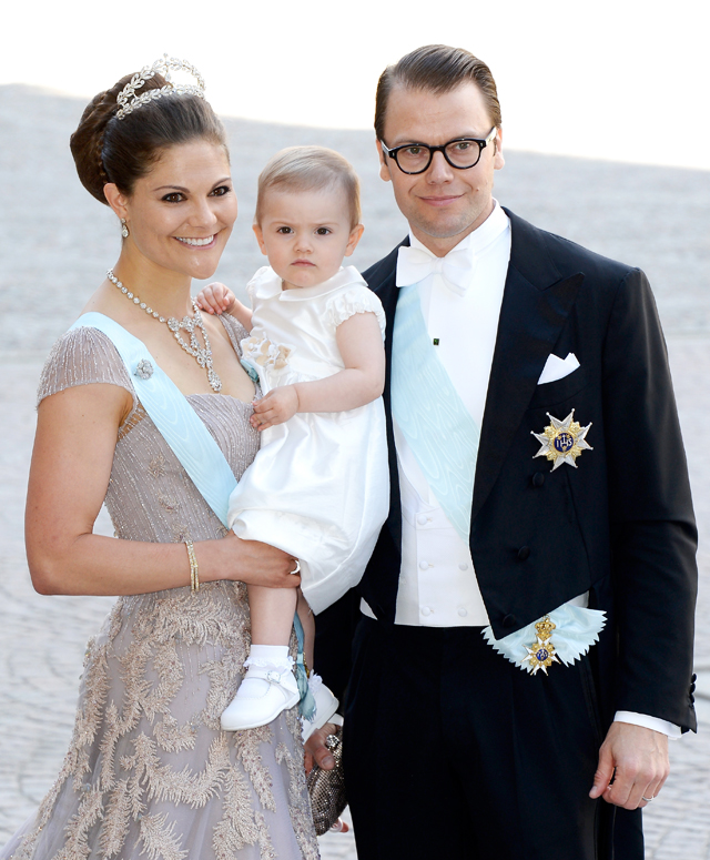 Crown Princess Victoria of Sweden, Princess Estelle of Sweden and Prince Daniel of Sweden, 2013