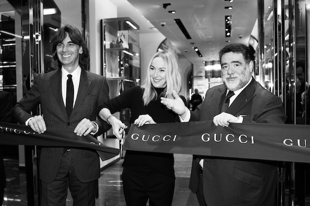 4e93c002834a Открытие двух бутиков Gucci в Москве (фото 1) Патрицио ди Марко, Фрида  Джаннини и Михаил Куснирович
