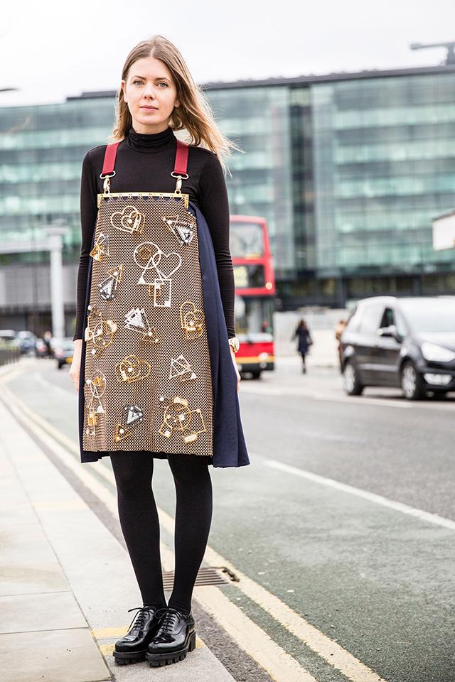 Неделя моды в Лондоне, осень-зима 2016: street style. Часть 2 (фото 18)