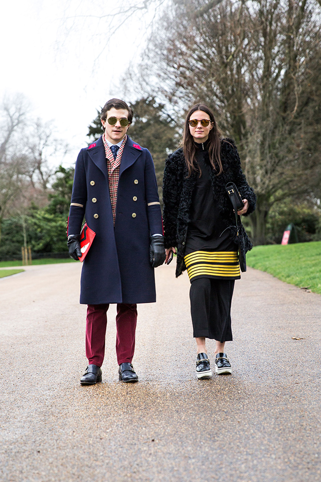Неделя моды в Лондоне, осень-зима 2016: street style. Часть 2 (фото 8)