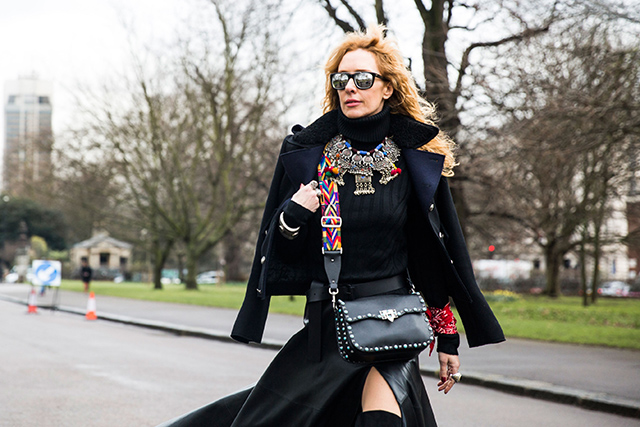 Неделя моды в Лондоне, осень-зима 2016: street style. Часть 2 (фото 12)