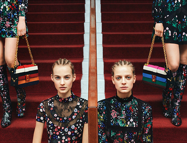 The advertising campaign Valentino, pre-fall 2015 (3 photos)