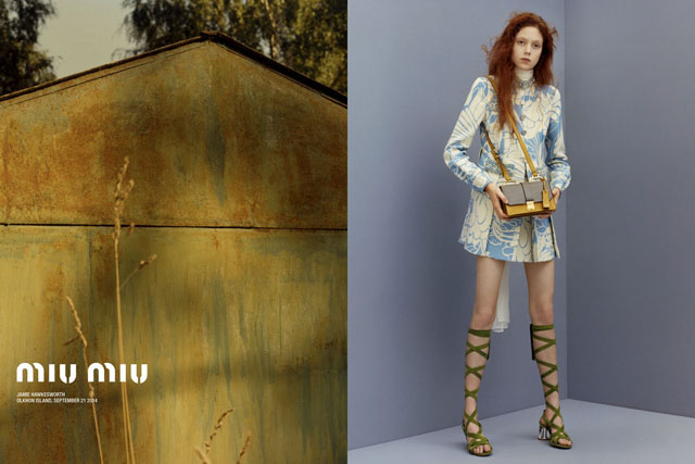 Сумрачный мир: рекламная кампания Miu Miu, resort 2015 (фото 1)