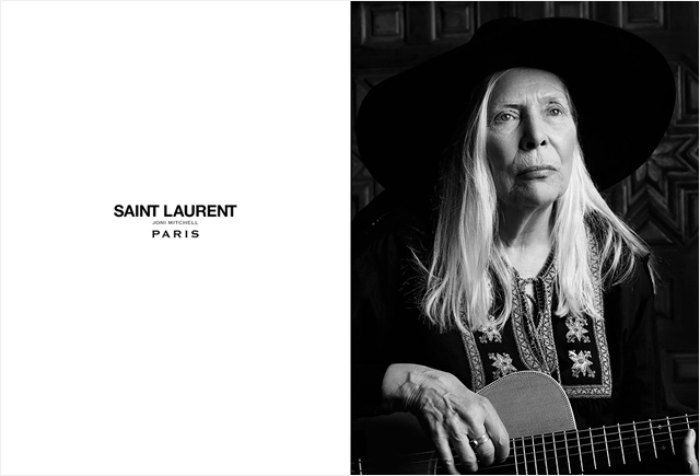 71-year-old Joni Mitchell became the face of Saint Laurent (photo 1)