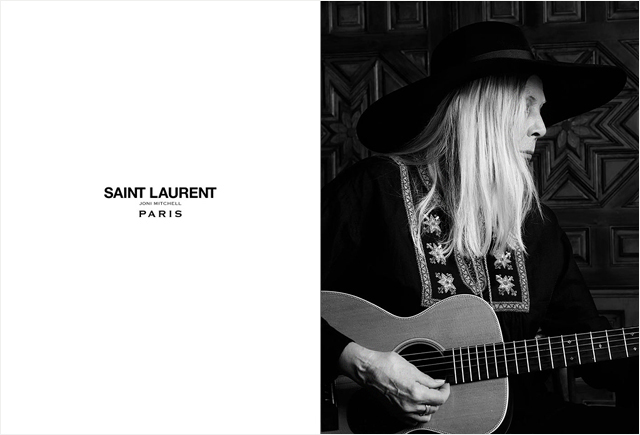 71-year-old Joni Mitchell became the face of Saint Laurent (photo 2)