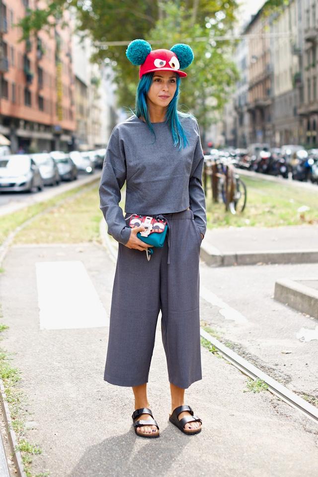Milan Fashion Week S / S 2015: street style.  Part I (9 photos)