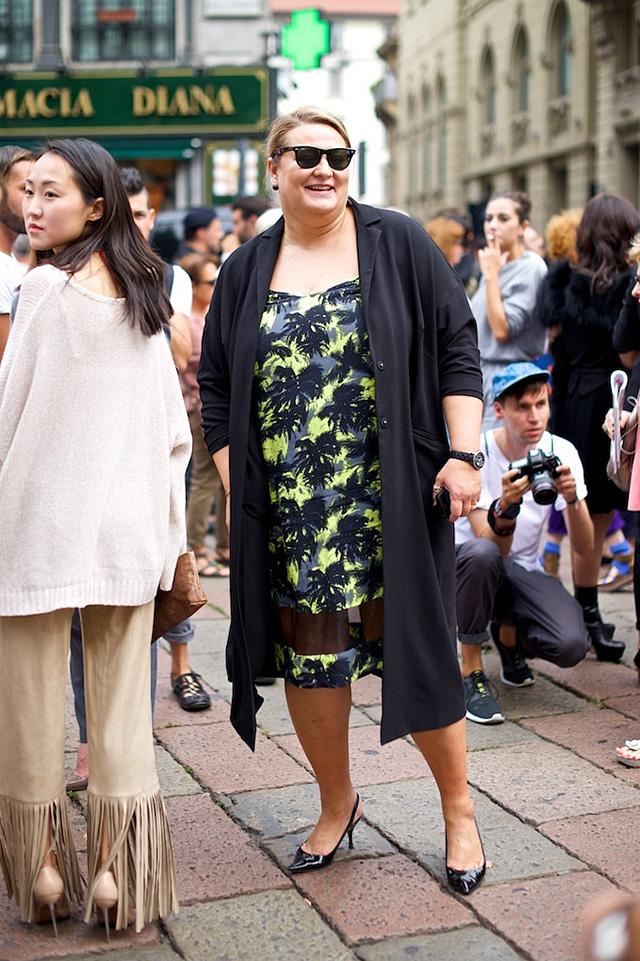 Milan Fashion Week S / S 2015: street style.  Part I (20 photos)