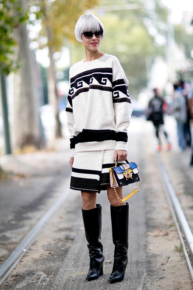 Milan Fashion Week S / S 2015: street style.  Part I (photo 4)