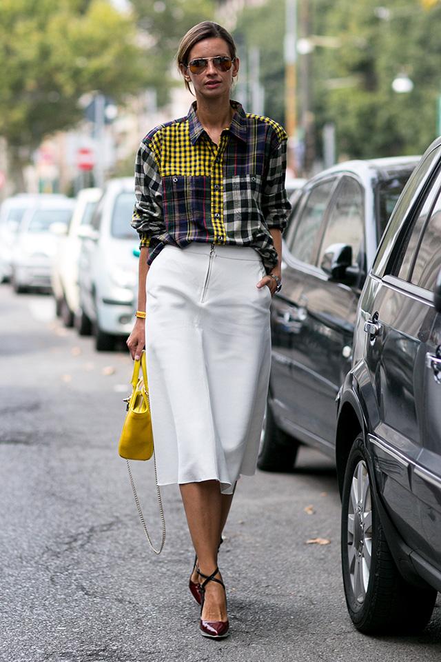 Milan Fashion Week S / S 2015: street style.  Part I (10 photos)