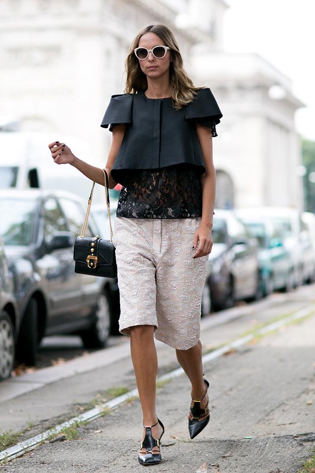 Milan Fashion Week S / S 2015: street style.  Part I (14 photos)