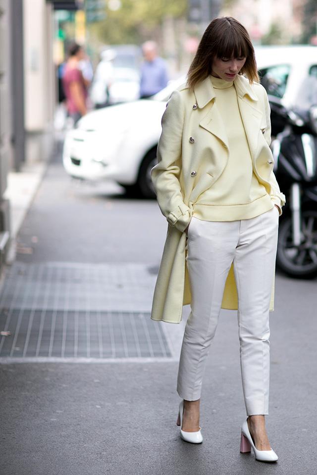 Milan Fashion Week S / S 2015: street style.  Part I (2 photos)