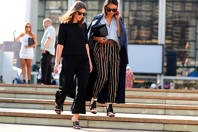 Fashion Week di New York / S 2015 S: street style.  Parte I (2 foto)