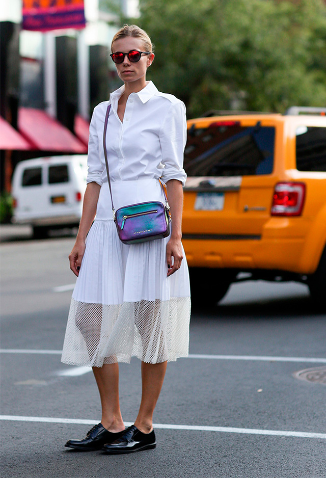 Fashion Week di New York / S 2015 S: street style.  Parte I (7 foto)