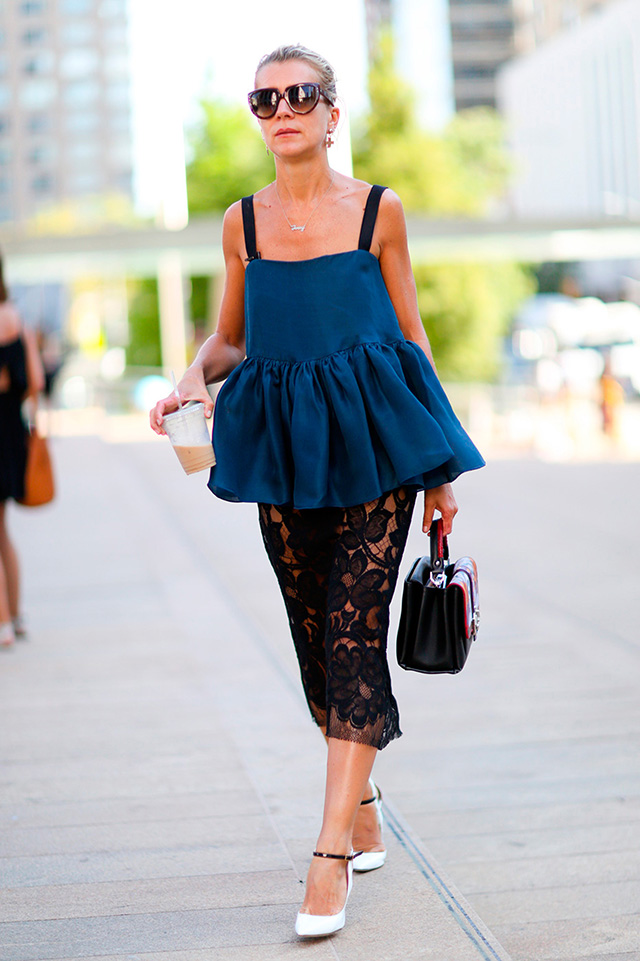 Fashion Week di New York / S 2015 S: street style.  Parte I (11 foto)