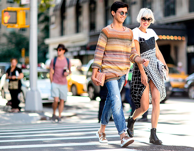 Fashion Week di New York / S 2015 S: street style.  Parte I (10 foto)