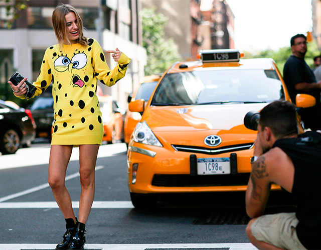 Fashion Week di New York / S 2015 S: street style.  Parte I (6 foto)