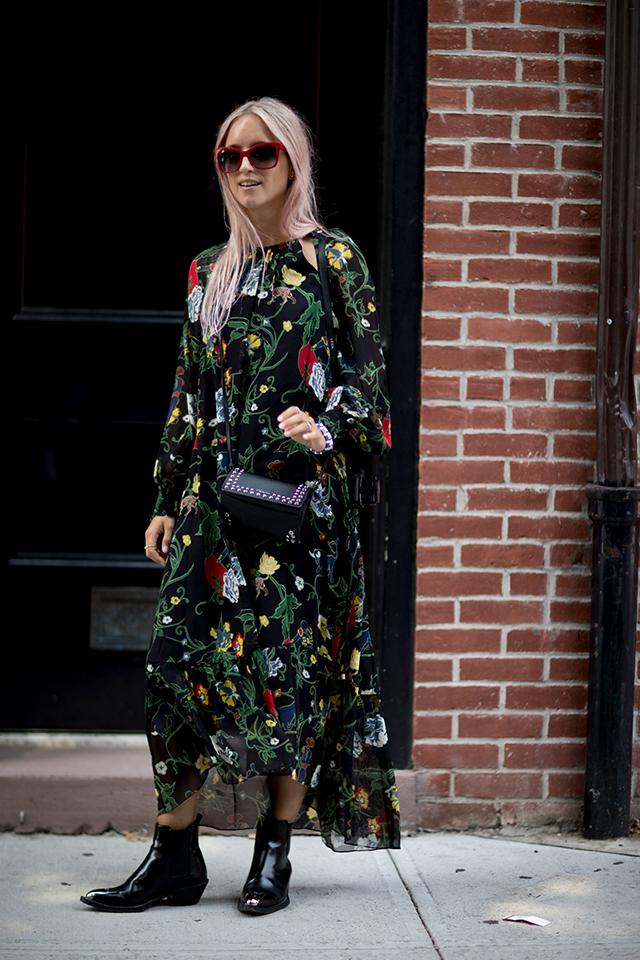 Что носят на Неделе моды в Нью-Йорке: 2 часть (фото 29)