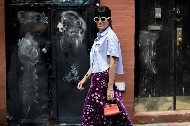 Что носят на Неделе моды в Нью-Йорке: 2 часть (фото 24)