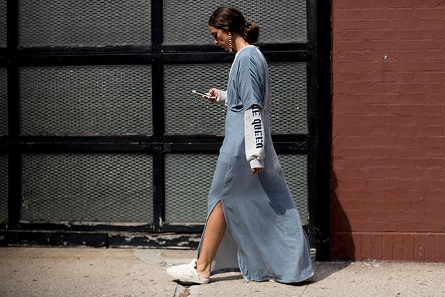 Что носят на Неделе моды в Нью-Йорке: 2 часть (фото 11)