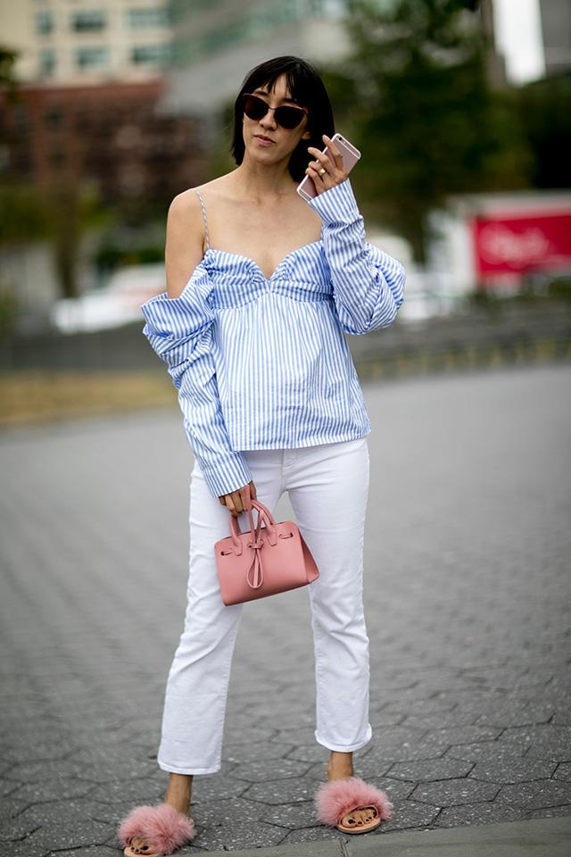 Что носят на Неделе моды в Нью-Йорке: 2 часть (фото 16)