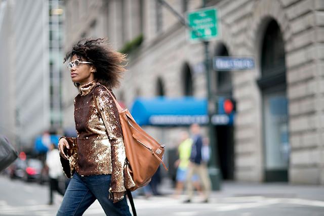 Что носят на Неделе моды в Нью-Йорке: 2 часть (фото 13)
