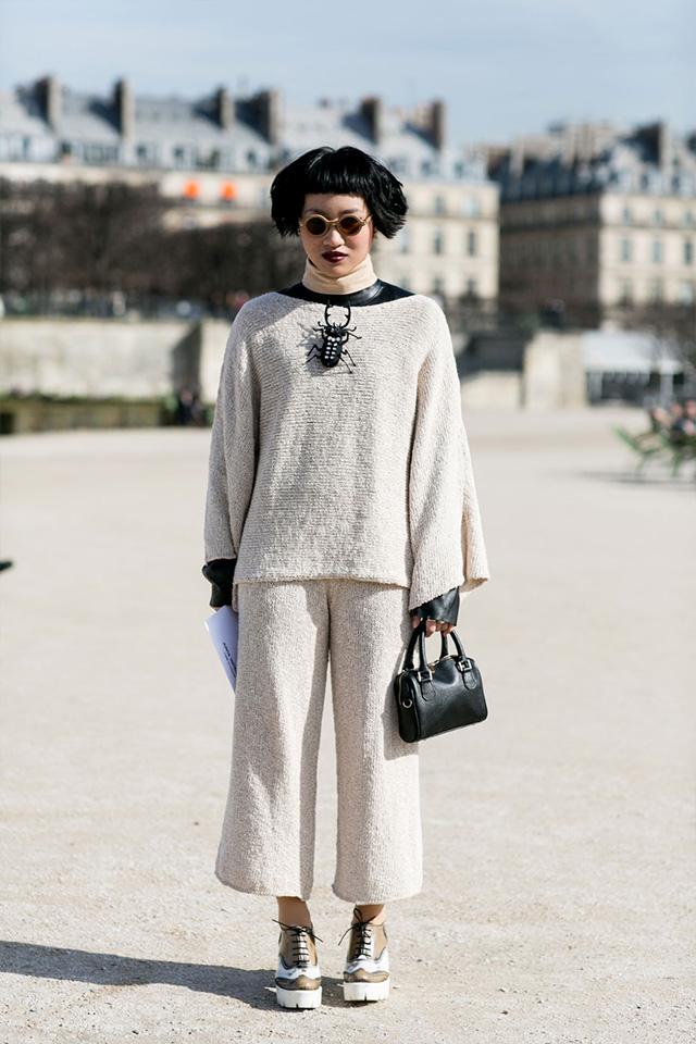 Paris Fashion Week A / I 2015: street style.  Parte 3 (8 foto)