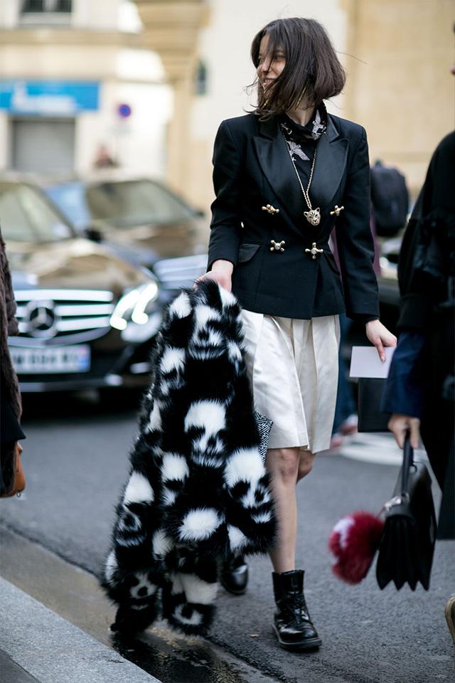 Paris Fashion Week A / I 2015: street style.  Part 3 (22 foto)
