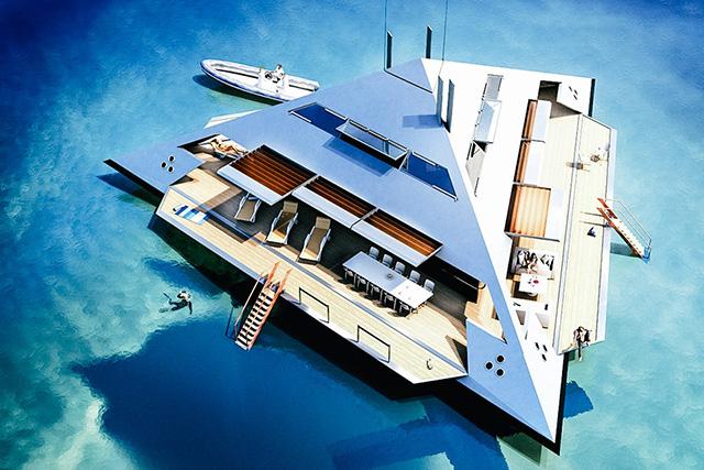 Проект яхты-пирамиды от лондонского архитектора (фото 1)