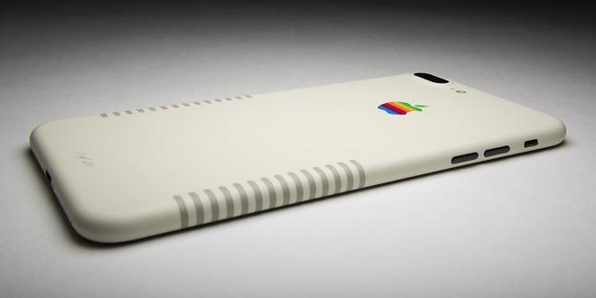 ColorWare представила ретро-модификацию iPhone 7 Plus срадужным логотипом Apple