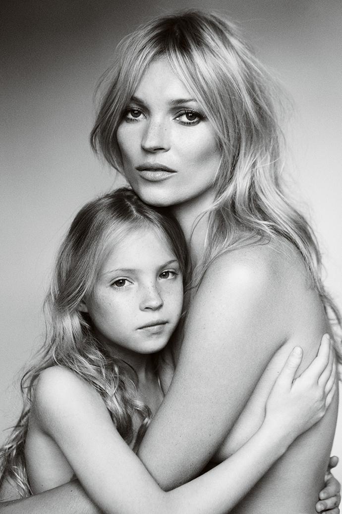 Кейт Мосс с дочкой Лилой Грейс